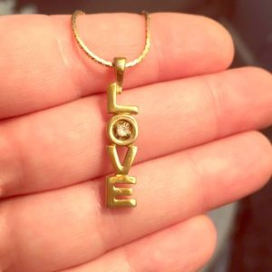 Vintage 1970's LOVE Necklace
